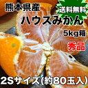 【送料無料】熊本県産ハウスみかん 秀 2Sサイズ 約5kg ※北海道・沖縄県へは別途送料必要【RCP】