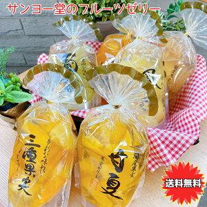 ゼリー ぜりー フルーツゼリー 果肉がごろころ サンヨー堂 フルーツゼリー 6種類セット マンゴー ぶどう パイナップル 甘夏 桃 三種果実 ギフト 御祝 プレゼント