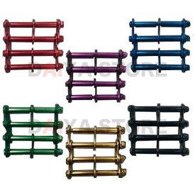 ニックス 金具 アルミ製金具一式 アルマイト加工 3連結金具 ALU-3 ALU-3-B ブラック レッド ゴールド ブルー グリーン パープル