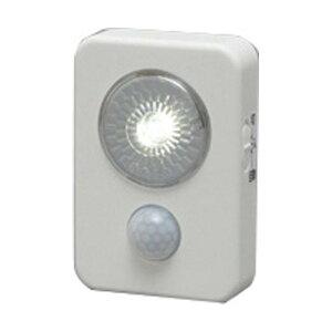 乾電池式LEDセンサーライトハンディタイプ ホワイト