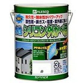 カンペハピオ 水性シリコン外かべ用 白 3L