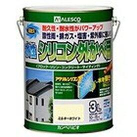 カンペハピオ 水性シリコン外かべ用 ミルキーホワイト 3L