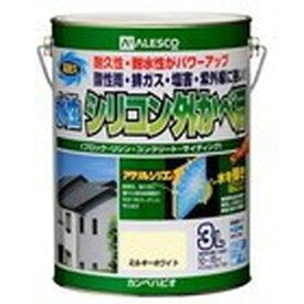 カンペハピオ 水性シリコン外かべ用 ライトグレー 3L