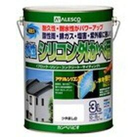カンペハピオ 水性シリコン外かべ用 つや消し白 3L