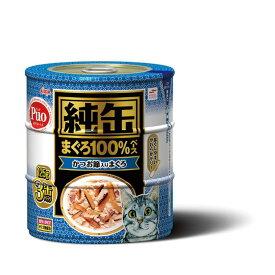 アイシア 純缶 かつお節入りまぐろ 125g×3缶 猫用缶詰