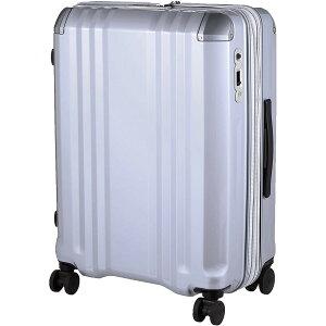 A.L.I アジア・ラゲージ スーツケース ハードキャリー 70L(82L) デカかるEdge シルバー ALI-008-24W キャリーバッグ 旅行 出張