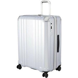 A.L.I アジア・ラゲージ スーツケース ハードキャリー 102L(120L) デカかるEdge シルバー ALI-008-102 キャリーバッグ 旅行 出張