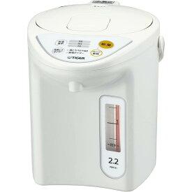 マイコン 電気 ポット 2.2L ホワイト PDR-G221-W Tiger 電気ポット お湯沸かし 保温 タイガー 魔法瓶 Tiger