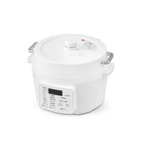 電気圧力鍋 PC-MA4-W 4.0L ホワイト 2WAYタイプ グリル鍋 簡単 手軽 圧力鍋 鍋 2020年モデル アイリスオーヤマ