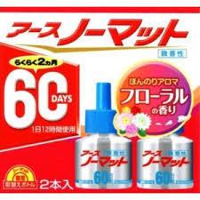 【メール便対応】数量限定アース製薬 アース ノーマット 60日用 2本入り フローラルの香り 微香性 取り換えボトル ※ネコポス不可