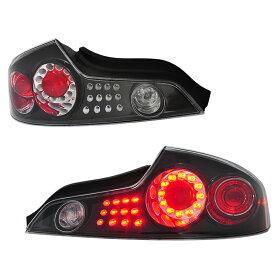 スカイラインクーペ LEDテール V35 LEDテールランプ ブラック G35 CPV35 インフィニティ 78WORKS (D064BK