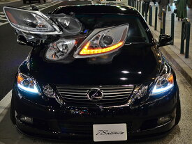 GS ヘッドライト 19系 GS350 GS430 GS450h GS460 LラインヘッドライトV2 流れるウインカー シーケンシャルウインカー 78WORKS (S273