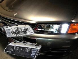 スカイライン ヘッドライト R32 高輝度LED 4灯仕様 フルLEDヘッドライト FR32 ER32 HR32 HCR32 HNR32 ECR32 BNR32 GTS GT-R 78WORKS (U015