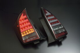 プリウス LEDテール ZVW30 H21/04〜H27/12 チューブLEDテール シーケンシャルウインカー レッドクローム/スモークレンズ CLEARWORLD/クリアワールド (CTT-38