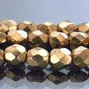 【2パック1セット】【最安値挑戦中!】【チェコ ビーズ ファイヤーポリッシュ】 【4mm ブロンズ (約48-50ヶ)】【チ…