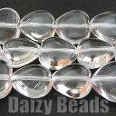【水晶(天然)】 ハート 10mm 1連(約38-40cm)【パワーストーン・天然石・ビーズ・天然石ビーズ・パワーストーンビー…