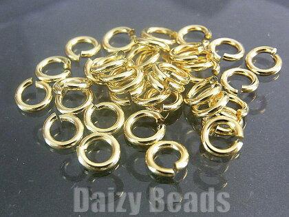 【16パック1セット】【マルカンパーツ金具】【ゴールド】約5mm太さ約1mm約36個
