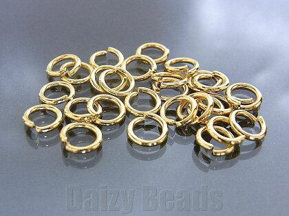 【16パック1セット】【マルカンパーツ金具】【ゴールド】約6mm太さ約1mm約28個