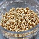 【4パック1セット】【丸小ビーズ・ゴールド(24K)】 高品質日本製丸小ビーズ 約1.9mm 約650ヶ(約10g)