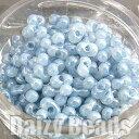 【ピーナッツビーズ・マーブルブルー】 高品質日本製ピーナッツビーズ 約4x2mm 約10g