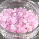 【ピーナッツビーズ・マーブルピンク】 高品質日本製ピーナッツビーズ 約4x2mm 約10g
