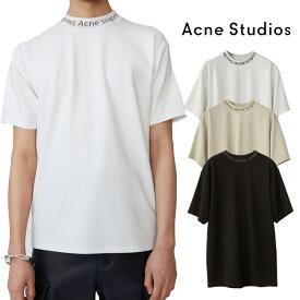 アクネストゥディオズ Acne Studios Tシャツ Navid 首ロゴ アクネ 半袖 重ね着 (全3色)【BL0004】