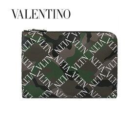 VALENTINO GARAVANI ヴァレンチノ ガラヴァーニ バレンチノ クラッチバッグ Valentino VLTN Camouflage Document Case (O35 / ARMY GREEN)【RY0B0457QQR】