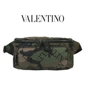 Valentino VLTN ウエストポーチ ヴァレンチノ ガラヴァーニ カモフラージュ ロゴ ウエストポーチ バレンチノ ウエストバッグ VALENTINO GARAVANI belt bag (Y28 / ARMY GREEN)【RY0B0765LPE】