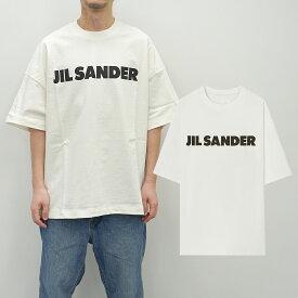 JIL SANDER ジルサンダー Tシャツ ジルサンダー Tロゴ Tシャツ JIL SANDER LOGO TEE (102 / WHITE)【JSMS707045MS248708】