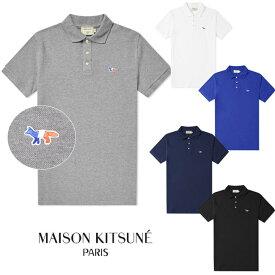 MAISON KITSUNE メゾンキツネ ポロシャツ メンズ 半袖 POLO TRICOLOR FOX PATCH(全5色)【AM00200AT1506-AM00200KJ7002】