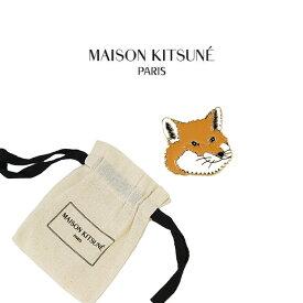 メゾンキツネ ブローチ MAISON KITSUNE キツネピンチャーム ブローチ キツネ 顔 FOX HEAD PIN BROOCH(MULTI COLOR / マルチカラー)【AU06502AZ1003-CU06511AM1002】