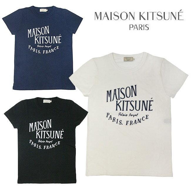 MAISON KITSUNE メゾンキツネ Tシャツ レディース クルーネック 半袖 PALAIS ROYAL(全3色)【AW00100AT1502】