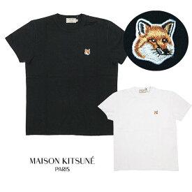 MAISON KITSUNE メゾンキツネ Tシャツ レディース クルーネック 半袖 TEE SHIRT FOX HEAD PATCH(全2色)【AW00103KJ0005】