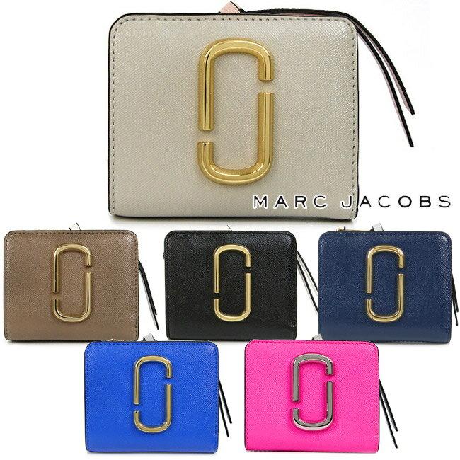 マークジェイコブス 財布 MARC JACOBS 二つ折り財布 レディース 二つ折りコンパクト財布 バイカラー Snapshot Mini Compact Wallet (全6色)【M0014282】