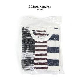 MAISON MARGIELA パックT メゾンマルジェラ Tシャツ ボーダー 半袖 メンズ Pack of 3 T-shirts 【S50GC0552-S23488】2019秋冬商品