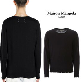【年に一度の大決算SALE】MAISON MARGIELA セーター メゾンマルジェラ ディストレスド ダメージセーター メンズ ニット Distressed Sweater KNIT【S50HA0950-S16997】