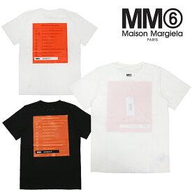 メゾンマルジェラ mm6 Tシャツ MM6 MAISON MARGIELA / TEE COTTON 半袖 グラフィックプリントTシャツ(全2色)【S52GC0113-S21058】