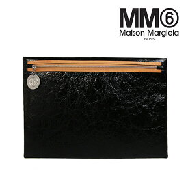 【年末年始 クリアランスセール】MM6 バッグ MAISON MARGIELA エムエムシックス メゾンマルジェラ クラッチ バッグ (T8013 / BLACK) CLUTCH BAG 【S54UI0060-P2261】