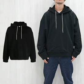 JIL SANDER + ジルサンダー プラス スウェットパーカー ジルサンダー ユニセックス フーディー JIL SANDER cotton-jersey drawstring hoodie(001 / BLACK)【JPUS707526MS248608】