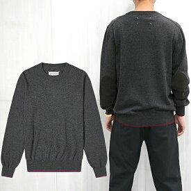 マルジェラ セーター ニット メゾンマルジェラ MAISON MARGIELA Crew Neck Sweater With Elbow Patches (002F)【S50HA0989 S17688】
