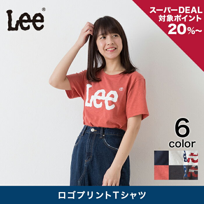 【Lee】 ロゴプリントTシャツ レディース トップス Tシャツ 半袖