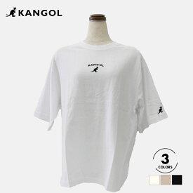 【KANGOL】 カンゴール アーチロゴTシャツ 半袖 Tシャツ かわいい シンプル ワンポイント ブラック オフ ベージュ