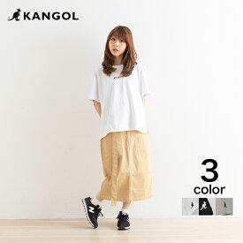 【KANGOL】カンゴール カラフル刺繍Tシャツ 半袖 Tシャツ カラフル かわいい シンプル  ワンポイント ブラック オフ ベージュ