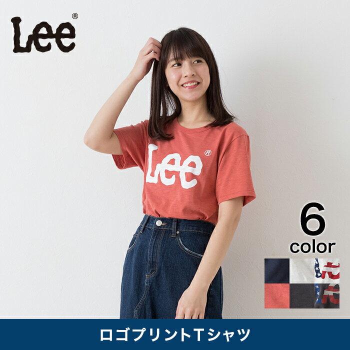 【サンキュークーポン発行中】【Lee】 ロゴプリントTシャツ レディース トップス Tシャツ 半袖