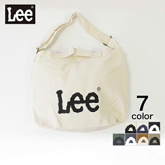 【LEE】 キャンバス2WAYショルダー ショルダーバッグ トート キャンバス キナリ ブラック ネイビーブラウン ベージュ