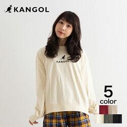 【KANGOL】カンゴール裏毛ワンポイント刺繍スウェットクルー
