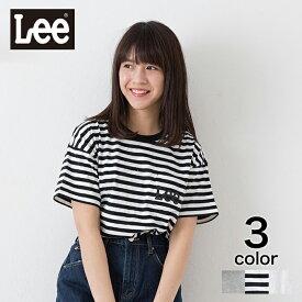 【Lee】 ポケットロゴTシャツ クルーネック ユニセックス トップス Tシャツ 半袖