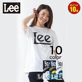 【LEE】 ベーシックプリントTシャツ メンズ レディース トップス Tシャツ 半袖 ブラック ネイビー ホワイト