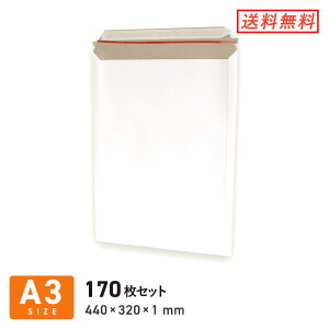 A3 厚紙封筒(開封ジッパー付き) 定形外郵便・宅配80サイズ 170枚セット