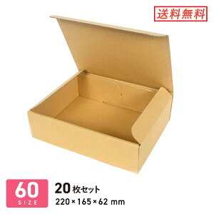 ダンボール (段ボール箱) A5 【 220 × 160 × 深さ 60 mm】 20枚セット